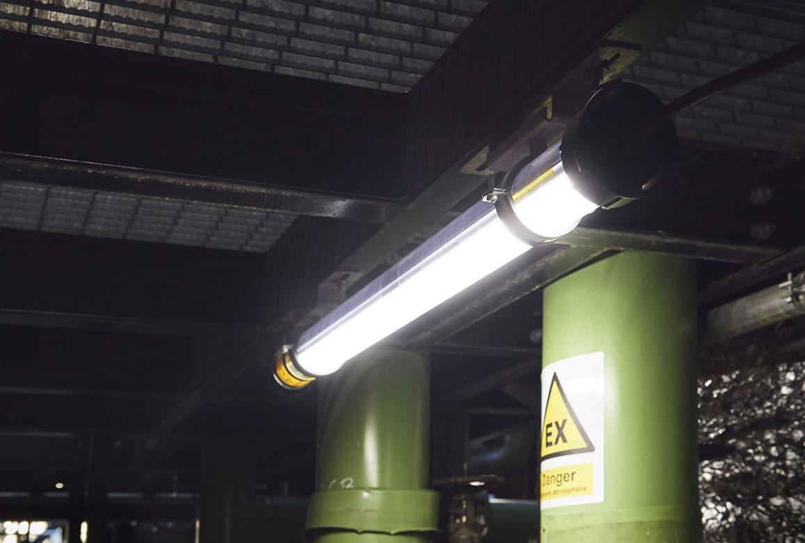 Atexor ATEX lighting installation in oil refinery.