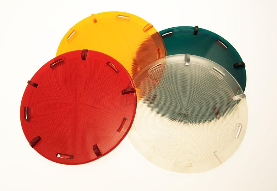 Set of colour lenses to MICA handlamps.