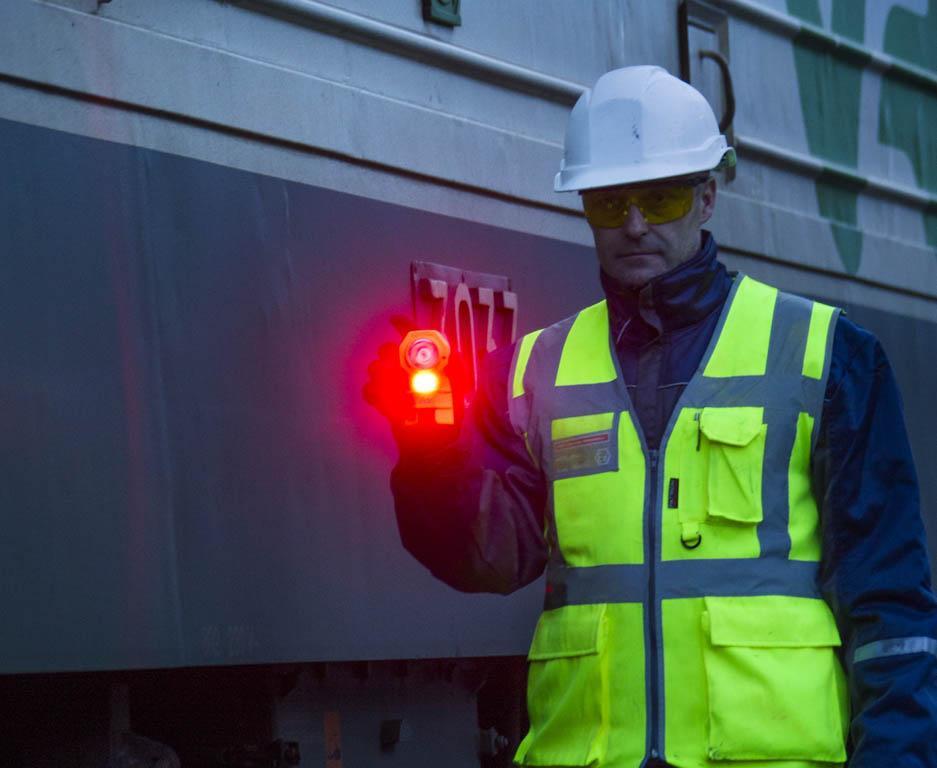 MICA ML-602 signaling light in railway use.
