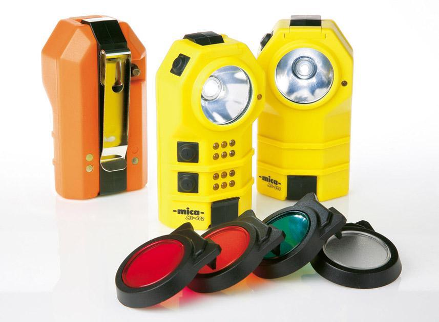 Atexor made MICA ML falimy presented. ML-600, ML-601 and ML-602 pocket lights.