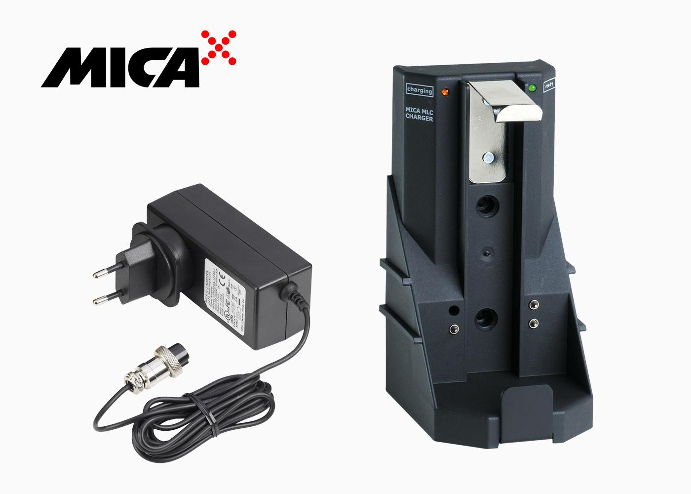 MICA MLC charger and IL-2 mains adapter.