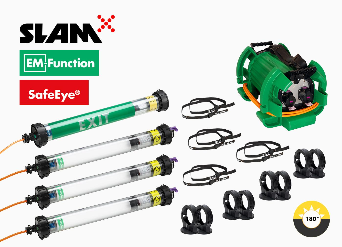 Portable ATEX lighting set for confined spaces. Ready for use in hazadous areas.