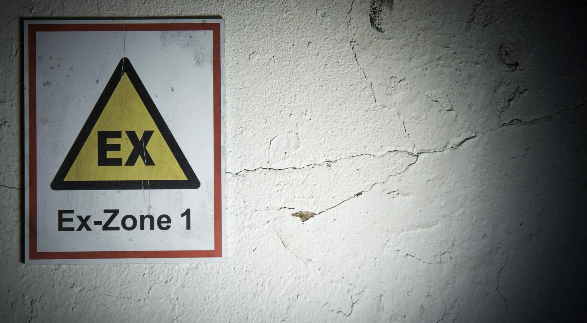 Atex Zone 1 sign.
