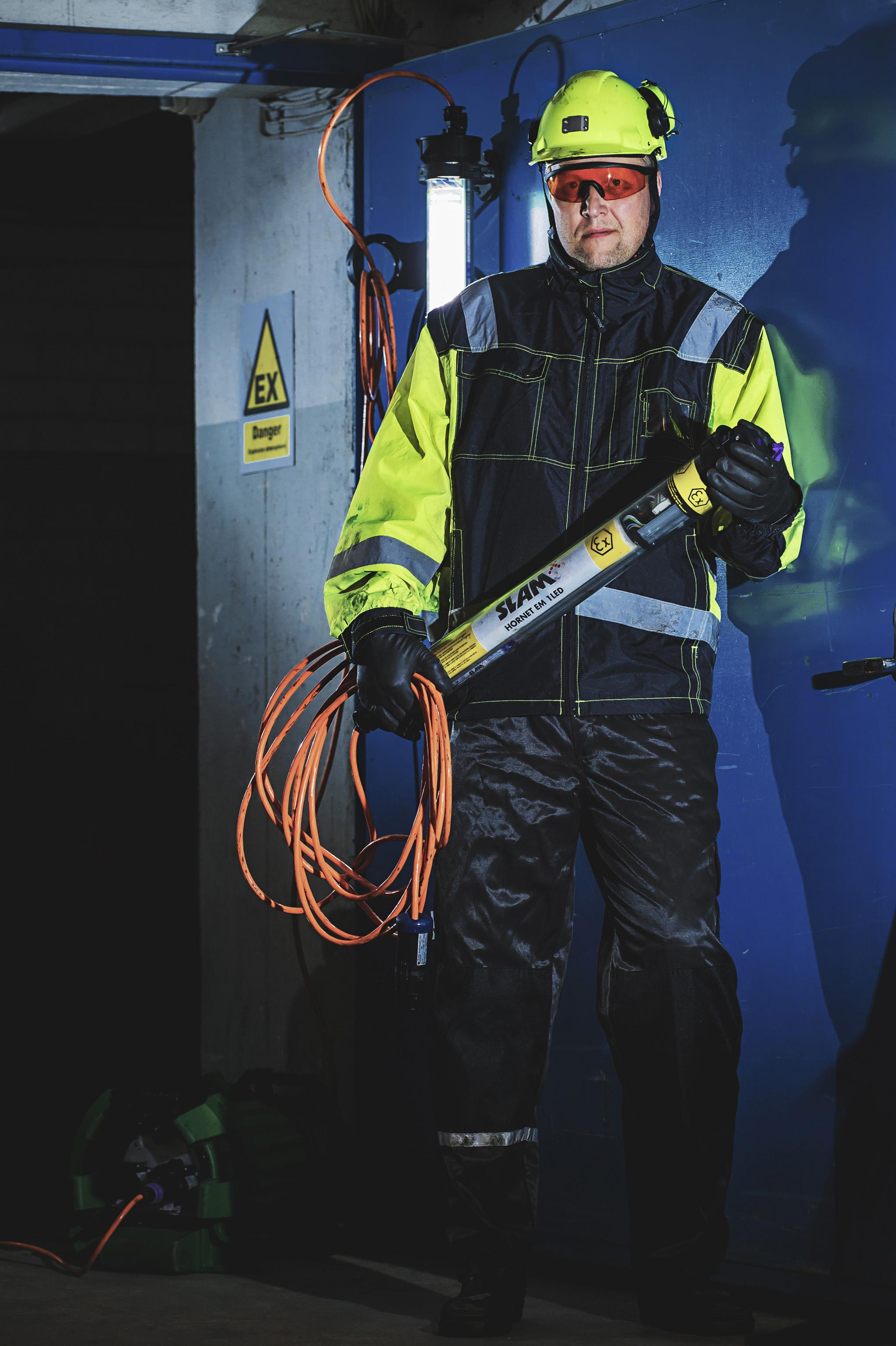 Portable ATEX lighting with LEDs by Atexor.