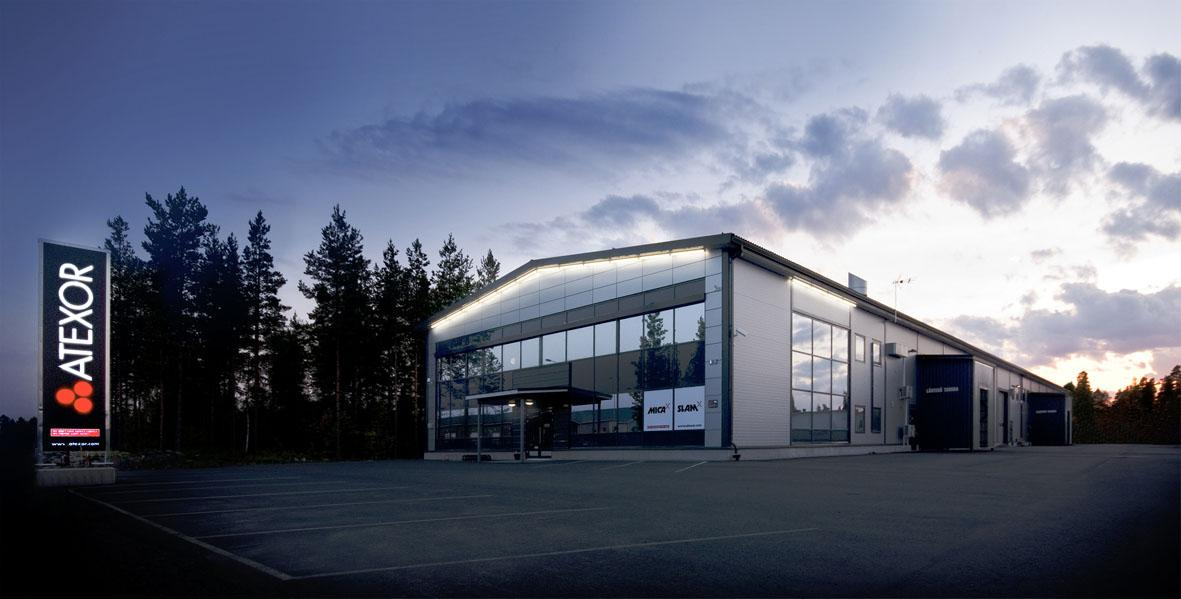 Atex lighting factory in Seinäjoki Finland.