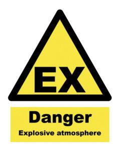 Ex Danger sign for all zone types