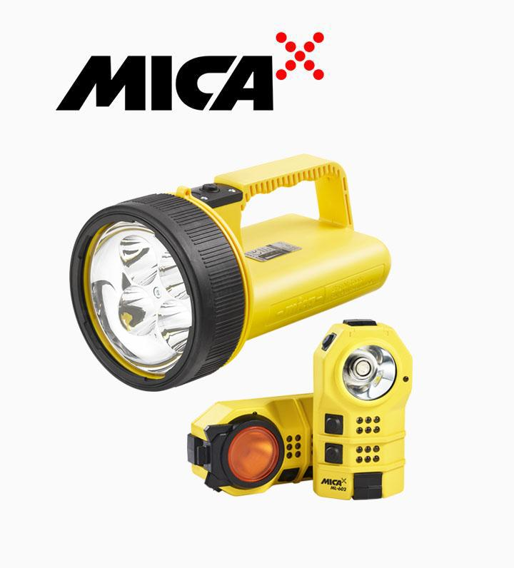 MICA handlamps for industrial and signalling use.